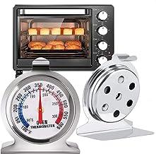 TECHVIDA Termómetro de Cocina para Hornos, Termómetro de Acero Inoxidable para Monitoreo, Termómetro Digital de Horno Fáci...