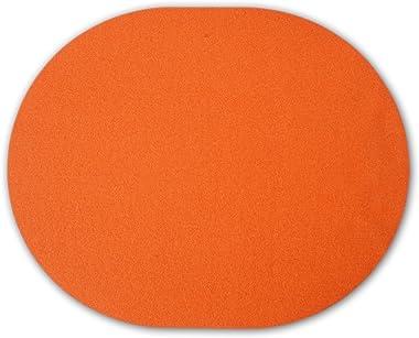 filzbrand Set de Table en Feutre Design déco Premium, Ovale, 42 x 34 cm, 3 mm épais, 1 pièce, Orange