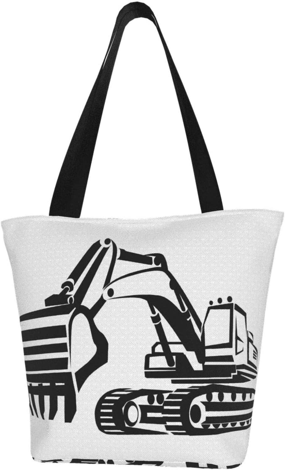 AKLID Houston Mall Black and White Digger Extra Large Canvas Water Resistant 2021new shipping free shipping