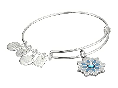 Alex and Ani Charity By Design, Water Lily Bangle (Shiny Silver) Bracelet