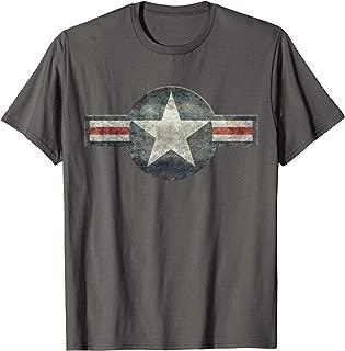 Vintage Retro USAF Style Star T-Shirt