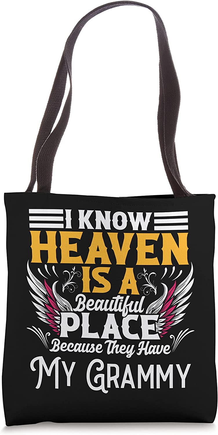 Sale Free Shipping New price Memorial for loss of Grammy Heaven Tote beautiful B memory place
