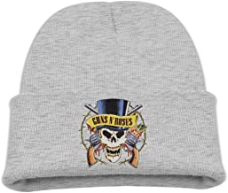 Kids Guns N Roses Skull Ash Knit Hat Beanies Cap