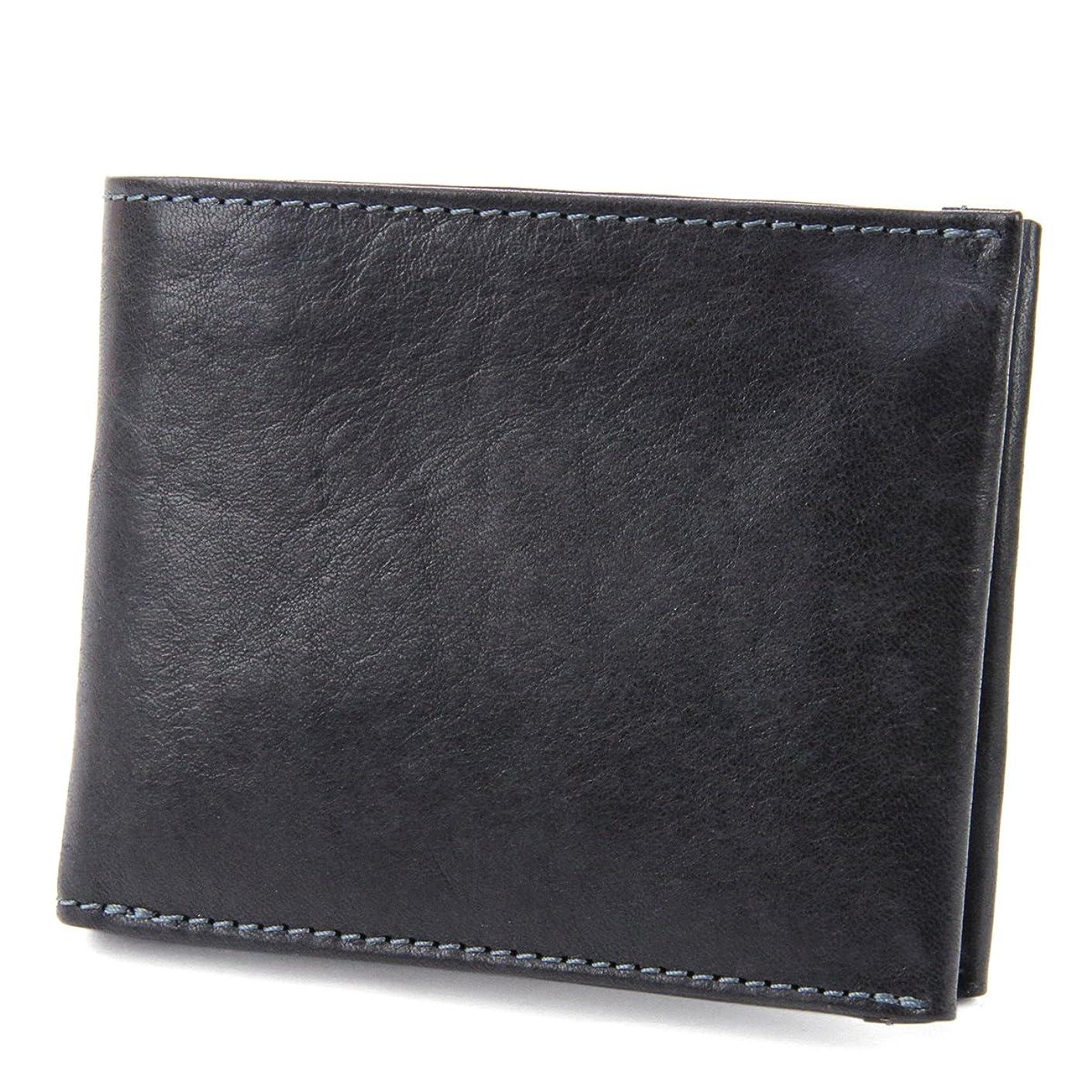 解決する私華氏ダコタブラックレーベル 二つ折り財布 本革 ガウディ 0626800 メンズ