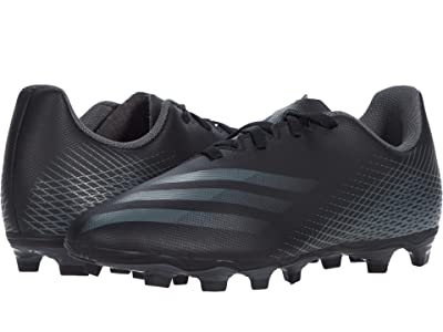 adidas Kids X Ghosted.4 FxG J Soccer (Little Kid/Big Kid) (Core Black/Grey Six/Core Black) Kids Shoes