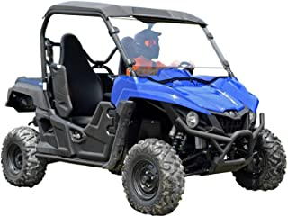 SuperATV Heavy Duty Scratch Resistant Full Windshield for Yamaha Wolverine (2015+) - Hard Coated for Long Life and Extreme Durability - Installs in 5 Minutes!
