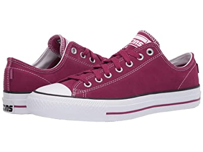 Converse Skate All Star Pro Suede Ox (Rose Maroon/White/Rose Maroon) Men