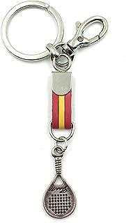 franartPiel - Llavero pala de padel - Bandera de España, Andalucía, Canarias, Republicana, Francia, Alemania - Alta Calida...