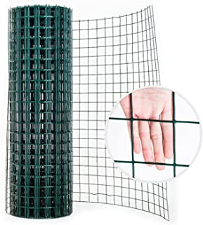 GZHENH Green Wire Mesh Fencing, Welded Wire Mesh Fencing 6x6cm Mesh PVC Coated Galvanized Hardware Mesh Used for Chickens ...