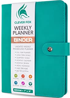 Clever Fox Weekly Planner Binder – Goal Setting Planner for Time Management & Weekly Tasks – Work & Life Organizer with to...
