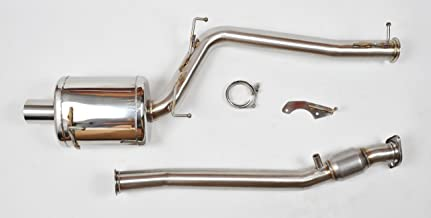 Berk Technology Catted 3-Inch Single Exit Header Back Exhaust Compatible with 04-09 Honda S2000 AP2 BT1604-HFC-AP2
