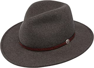 9e83056c77a Stetson Mens Cromwell Wool Felt Crushable Water Repellent Olive Mix Crusher  Collection Cowboy Hat