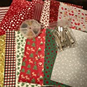 Hair Clips for Making Christmas Theme Hair Bows/and Earrings 6.3 x 8.3 inch Caydo 12 Pieces Christmas/Faux Leather Sheet with Earring Hooks