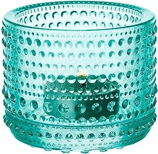 Iittala Kastehelmi Windproof Candle Holder Standard wassergrün
