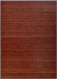 Alfombra de salón o Comedor Industrial marrón de bambú de