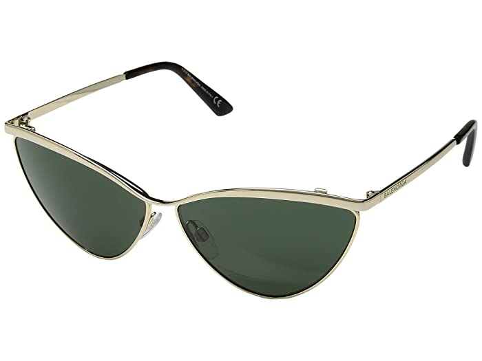 Balenciaga  BA0126 (Shiny Rose Gold/Green) Fashion Sunglasses