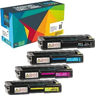 Do it Wiser Compatible Toner Cartridge for Ricoh Aficio SP C320DN SP C242DN SP C232SF SP C231N C231SF C232DN C242SF C310 C310A SP C311N SP C312DN - 406475 406476 406477 406478-4-Pack