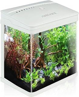 Nobleza – Aquarium en Verre avec Couvercle et lumières LED, Complet Bocal Poisson,..