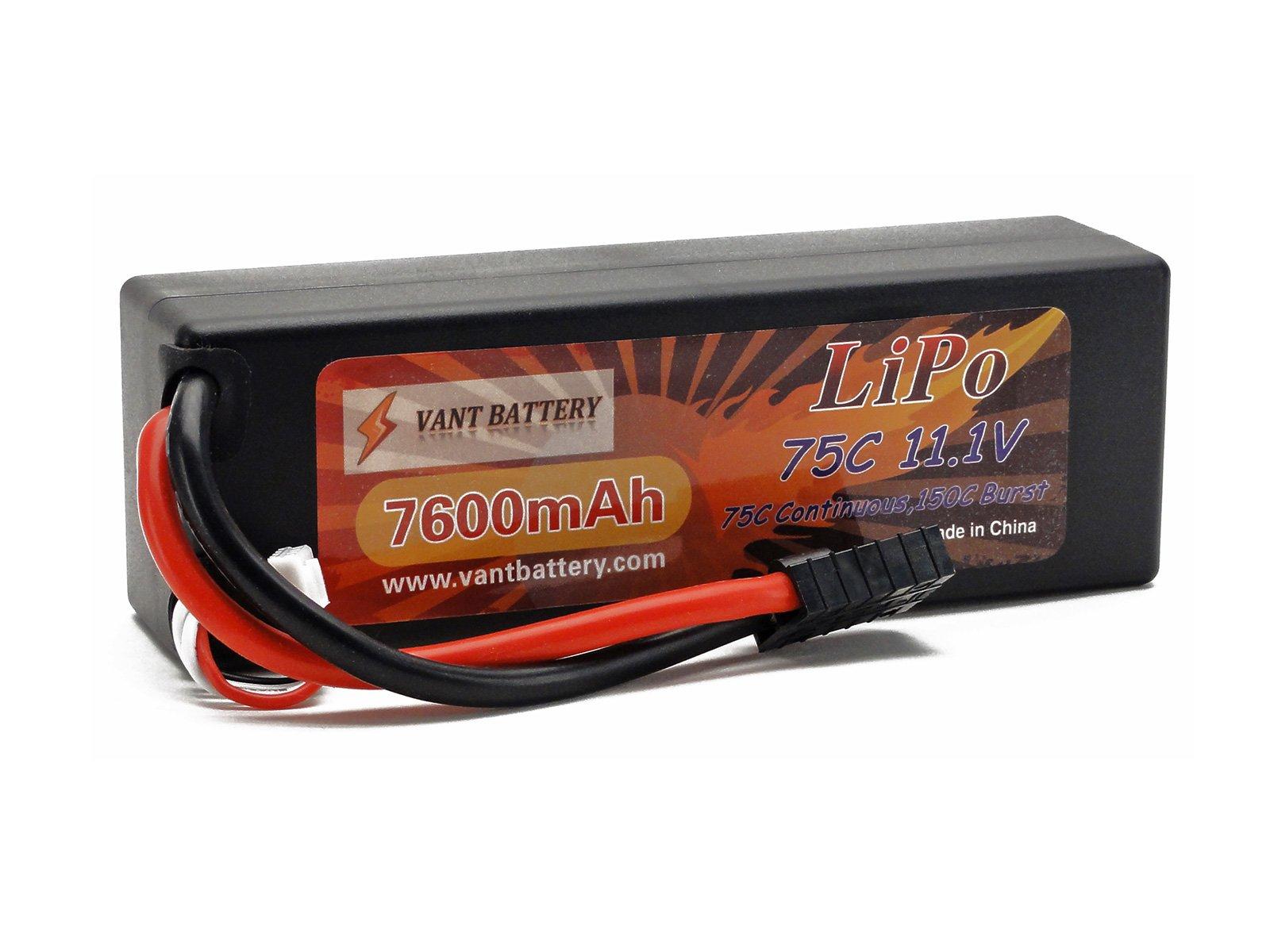 7600mAh 75C 150C HardCase Battery Connector