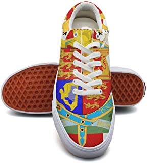 Beleopard British Flag United Kingdom Unisex Canvas Shoes Graffiti Low top Sneaker