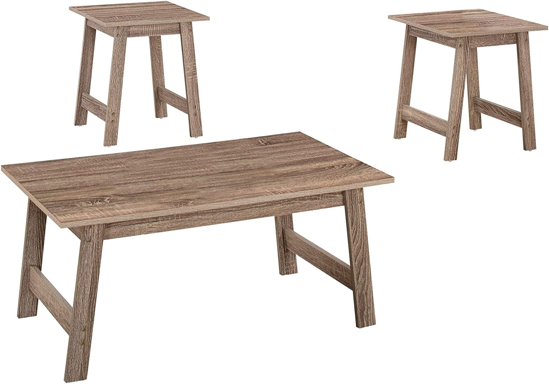 Ergode Table Set - Discount mail Phoenix Mall order Dark Taupe 3PCS