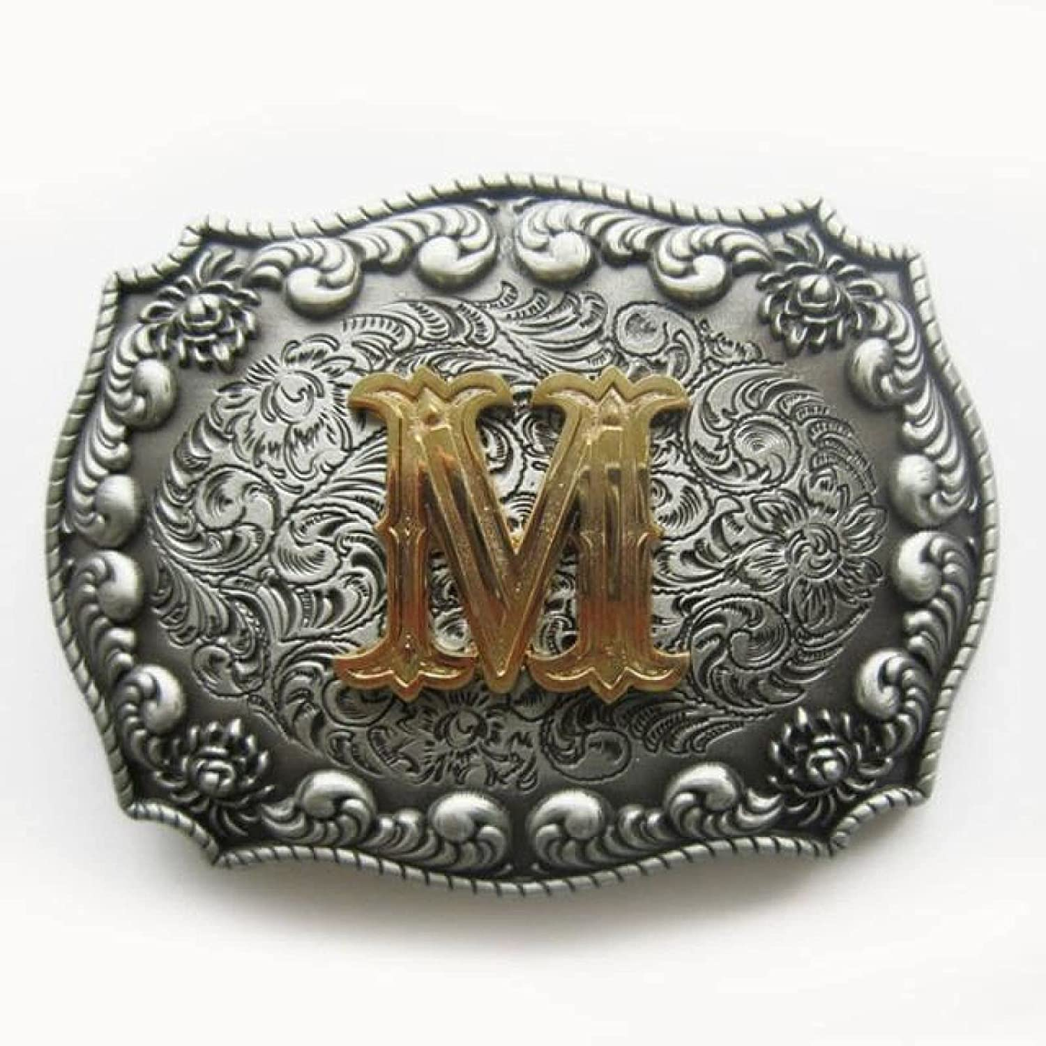 Western Cowboy Cowgirl Initial Womens Omaha Mall Belt Buckle Letter Max 59% OFF