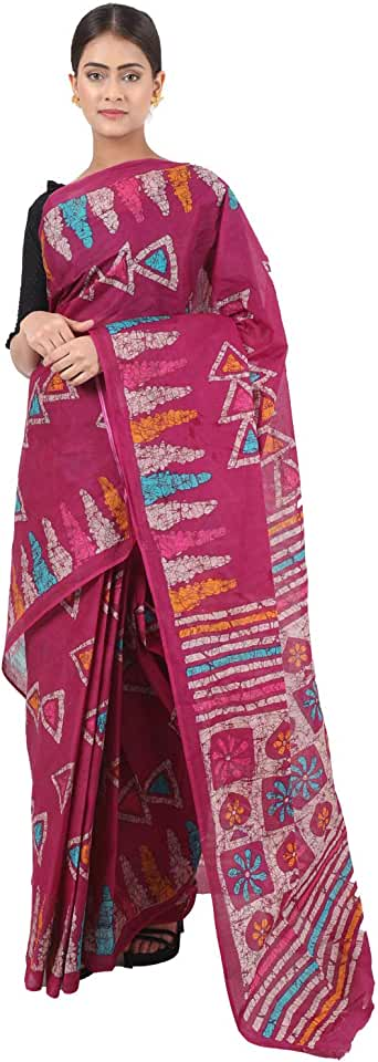 Indian TAMAIRA FASHION Women's Pure Cotton Saree Without Blouse Piece(AB13+7_Parent) Saree