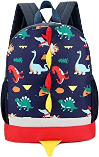 IMLECK Kid Toddler Backpack Dragon Dinosaur with Safety Leash Harness Strap Backpack 3-6years