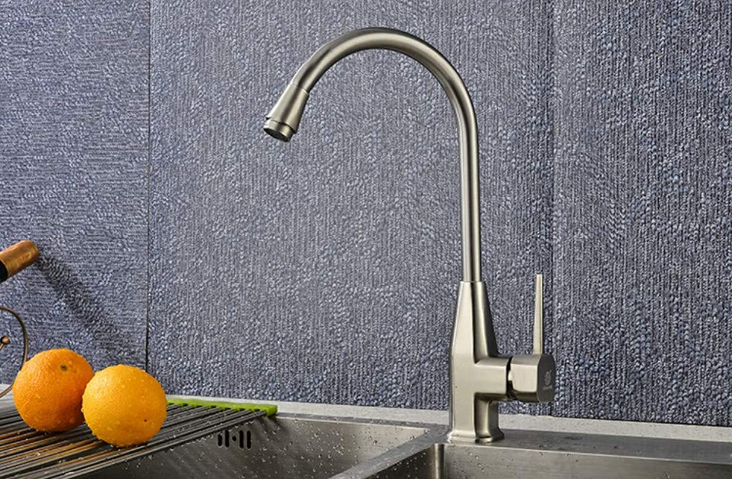 Brushed Kitchen Faucet Hot and Cold Sink Sink redating Mixer