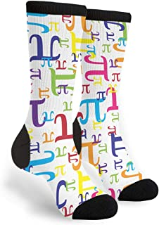 Colorful Pi Math Novelty Socks For Women & Men One Size - Gifts