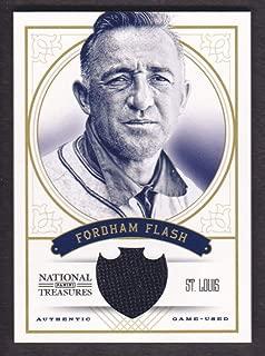 "2012 Panini National Treasures Baseball Nicknames #8 Frankie Frisch""Fordham Flash"" Jersey 17/25"