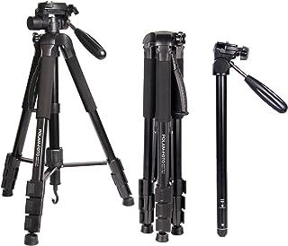 POLAMFOTO Treppiedi Fotocamera,177cm Treppiede Monopiede Alluminio Leggero con con testa pan girevole a 3 vie, borsa da tr...