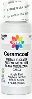 Delta Creative Ceramcoat Metallic and Pearl Acrylic Paint in Assorted Colors (2 oz), 2602, Metallic Kim Gold