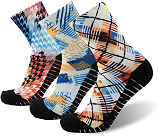 Unisex Crazy Digital Printing Athletic Performance Running Quarter Socks 1, 3, 4 Pairs