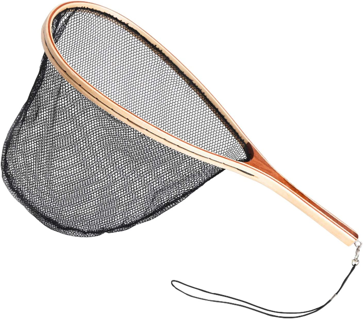 Fly Fishing Landing Net Wooden Limited time trial price Frame Soft Ranking TOP15 Rubber or Waterpr Mesh