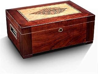 Rökningsset/cigarr tillbehör cederträ cigarr luftfuktare låda fuktgivande luftfuktare skåp cigarr fodral med hygrometer lu...