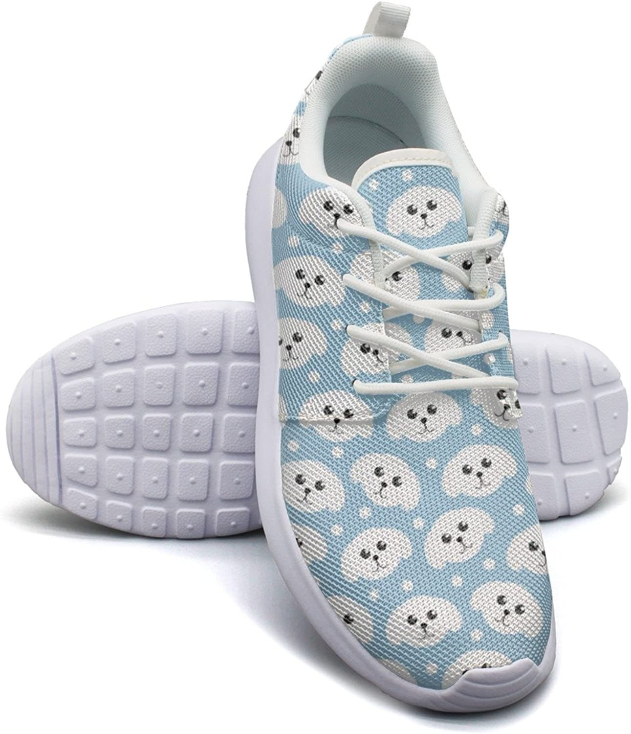 Hoohle Sports Cute Puppy Pattern Dog Womens Roshe One Flex Mesh Running shoes for Men