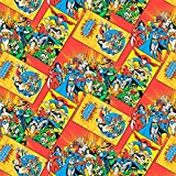 DC Comics Character Book Covers Quilting Fabric Sold Per