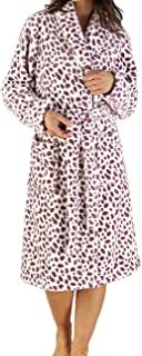 Slenderella Ladies Luxury Super Soft 280GSM Fleece Spotty Dressing Gown Bath Robe