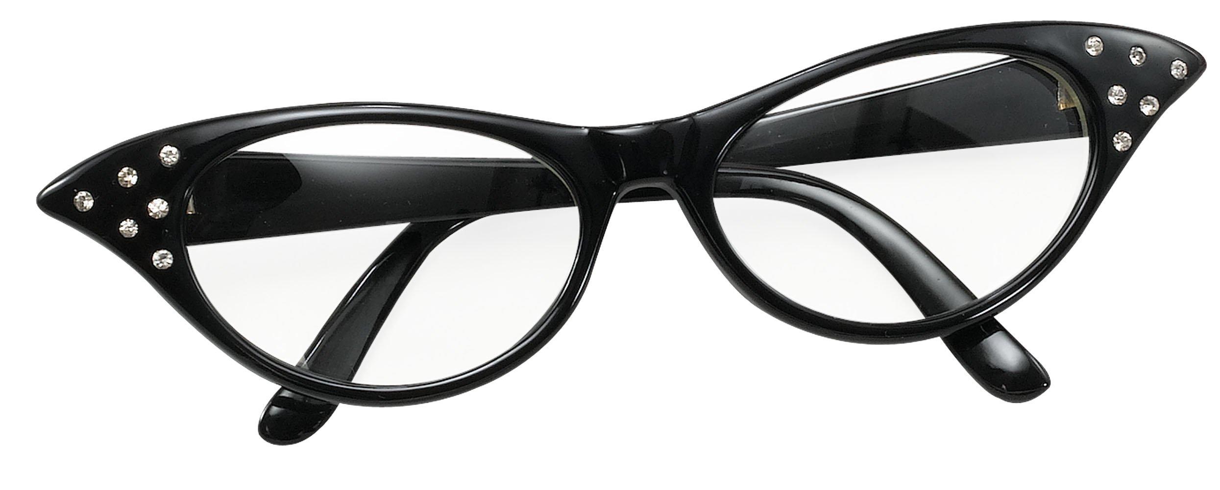 PLAYHOUSE FANCY DRESS Bristol Novelty BA142B Glasses 50's Female Style Black, One Size