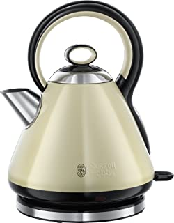 Russell Hobbs 21888 Legacy Quiet Boil Electric Kettle, 3000 W, 1.7 Litre, Cream