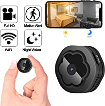 Mini WiFi Hidden Camera,Wireless Spy Camera HD 1080P Security Camera for Home Nanny Cam with Night Vision Motion Detection, Built-in Magnetic Fit Indoor Outdoor Recording