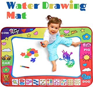 Develop Smarter Water Drawing Mat for Toddlers - Large Aqua Magic Mat for Boys, Girls - Educational Mess Free Water Doodle Board with Pens - Best Gift for Children