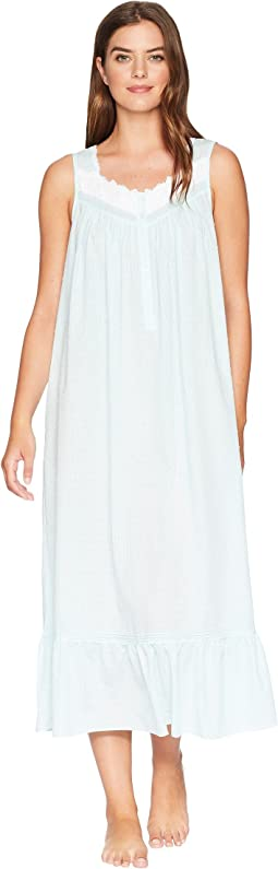 Sheer Stripe Clip Dot Ballet Nightgown