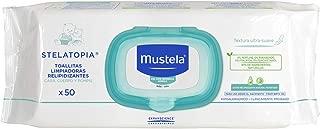 Mustela Toallitas Relipidizantes para Cara, Cuerpo y Pompis, Piel Atópica o Eczema, 50 Cuentas