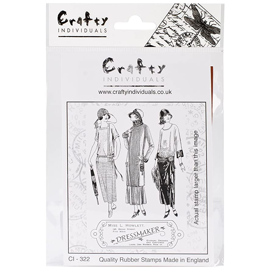 Crafty Individuals CI-322 Unmounted Rubber Stamp, The Dressmaker