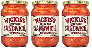 Wickles Spicy Red Sandwich Spread, 16 OZ (Pack of 3)
