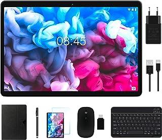 MEBERRY Tablet 10 Pulgadas Android 10.0 Ultrar-Rápido Tablets 4GB RAM+64GB ROM - WI-FI+Cellular | Google GMS | Dual SIM & Dual Cámara | 8000mAh | Bluetooth | GPS, Teclado&Ratón - Nergo