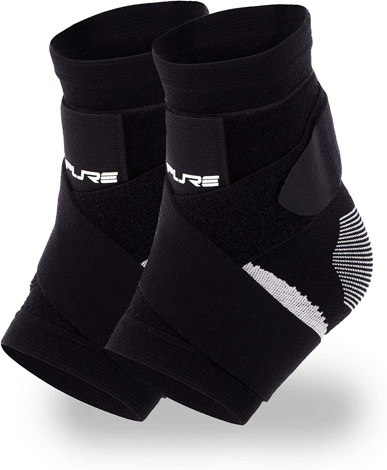 Running Compression Sleeve with Adjustable Straps for Extra Support Basketball Pure Athlete Ultimate Ankle Support Brace Soccer