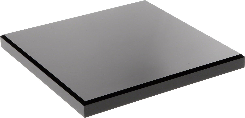 Plymor Black Acrylic Square Beveled Display Base 0.75